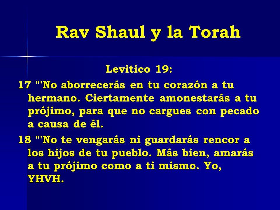 Rav Shaul y la Torah Levitico 19:
