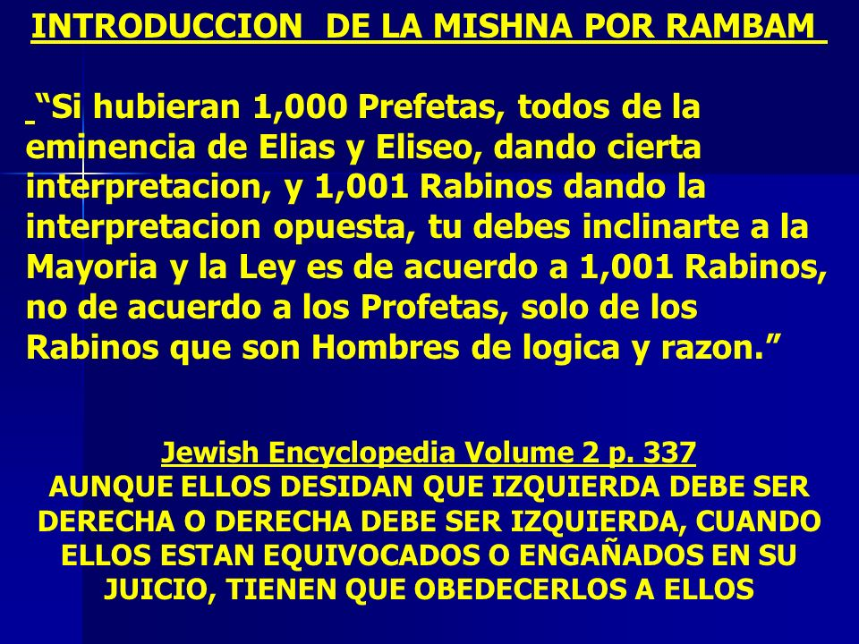 INTRODUCCION DE LA MISHNA POR RAMBAM