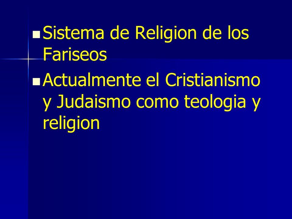 Sistema de Religion de los Fariseos