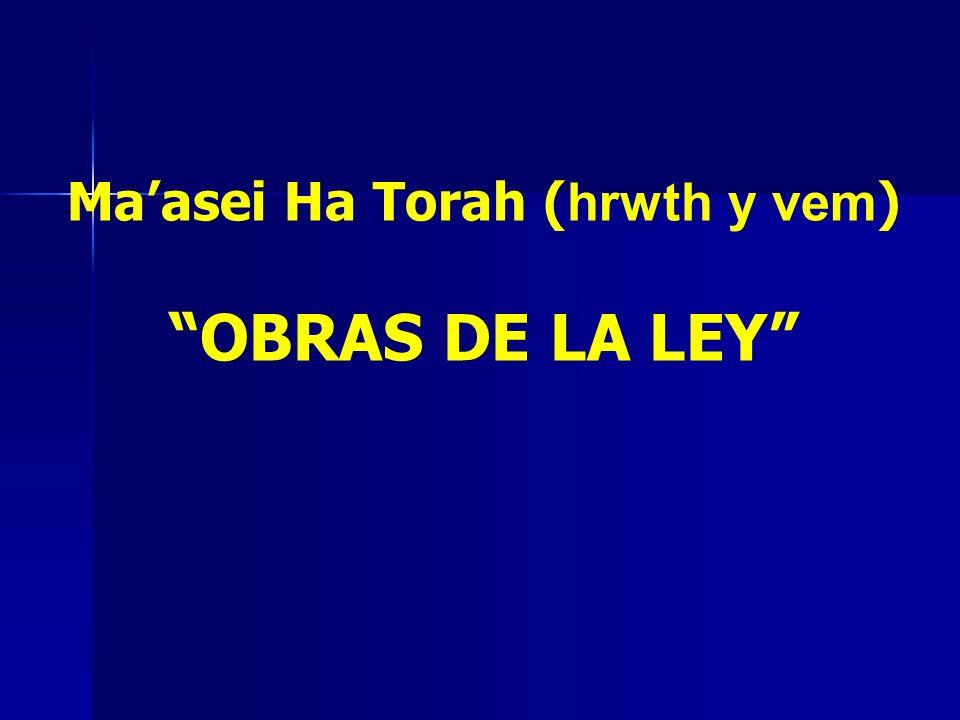 Ma'asei Ha Torah (hrwth y vem)