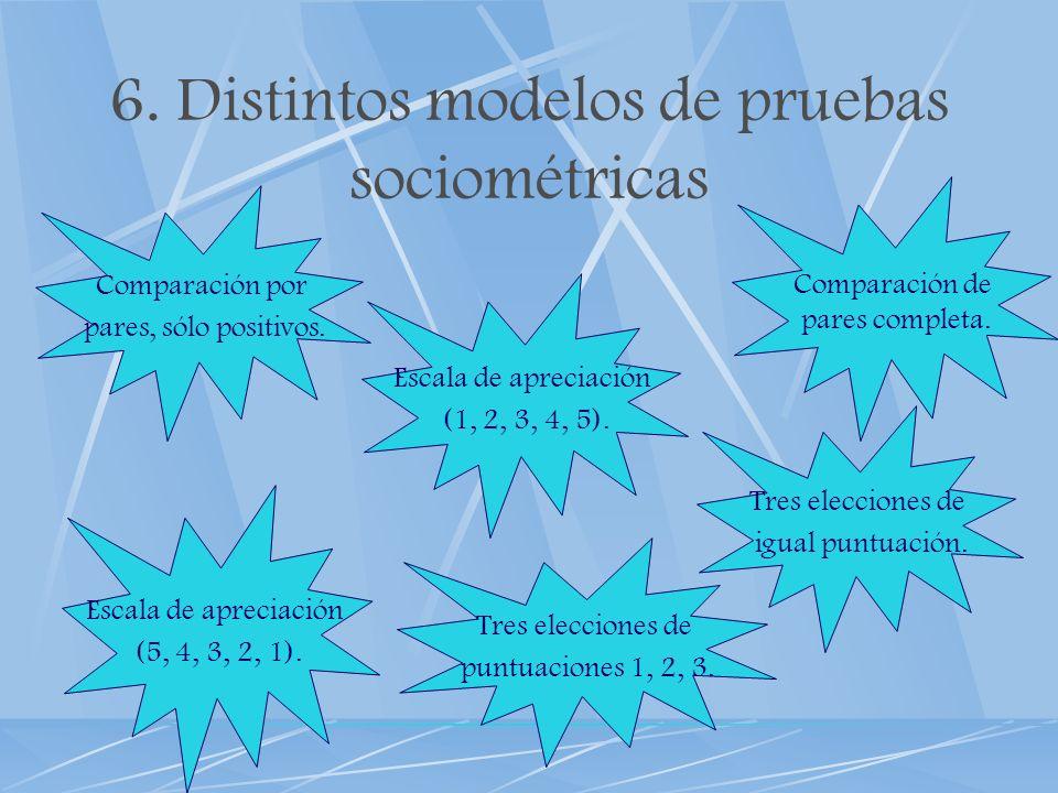 6. Distintos modelos de pruebas sociométricas