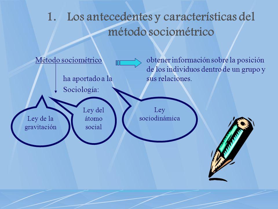 Los antecedentes y características del método sociométrico