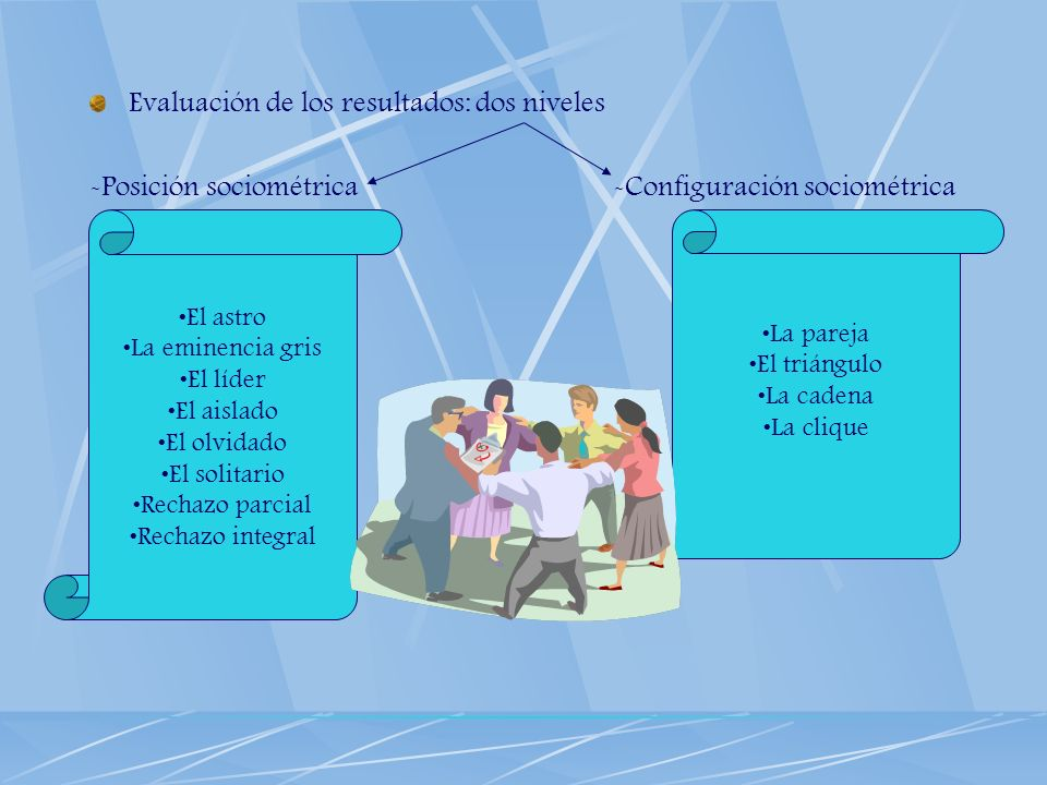 Evaluación de los resultados: dos niveles