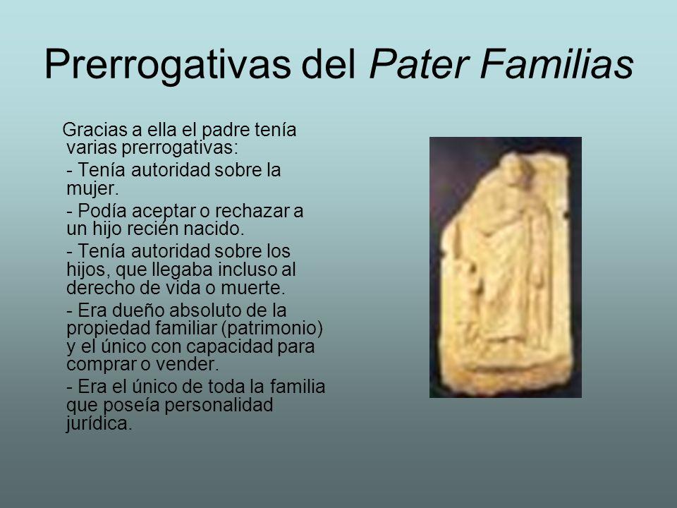 Prerrogativas del Pater Familias