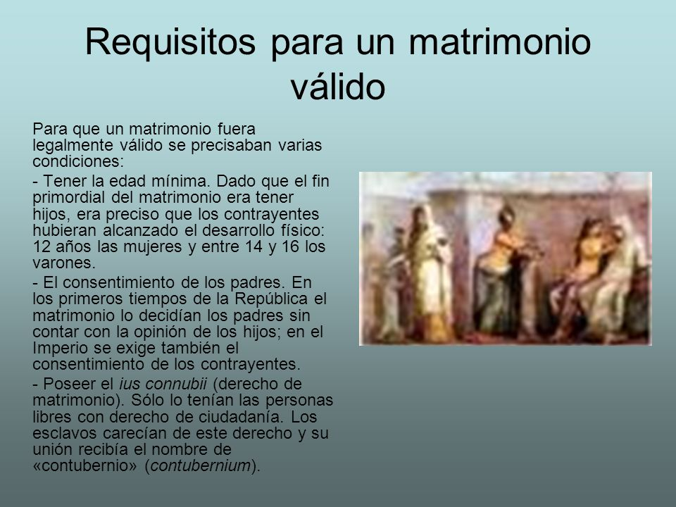 Requisitos para un matrimonio válido