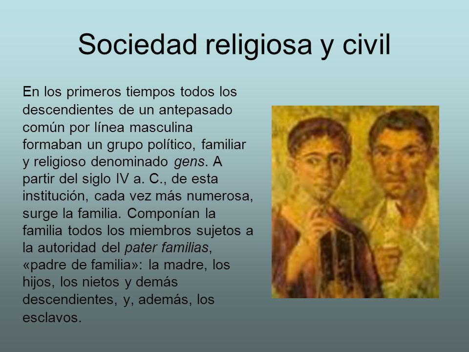 Sociedad religiosa y civil