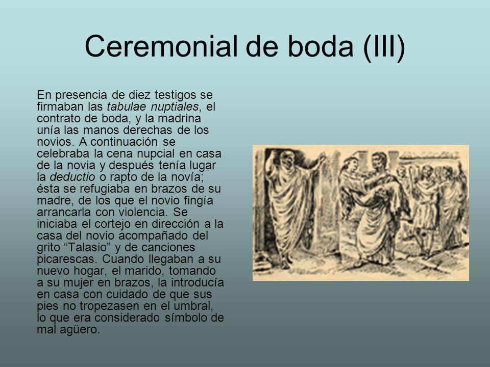 Ceremonial de boda (III)