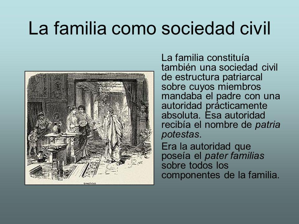 La familia como sociedad civil