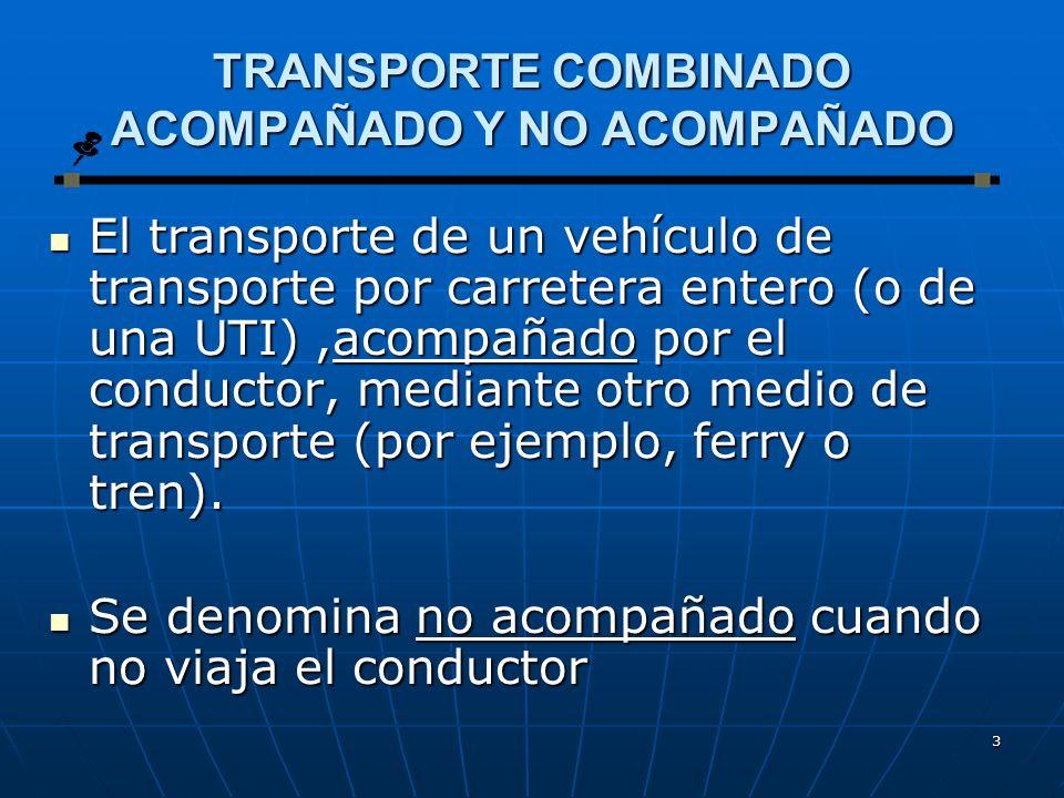 TRANSPORTE COMBINADO ACOMPAÑADO Y NO ACOMPAÑADO