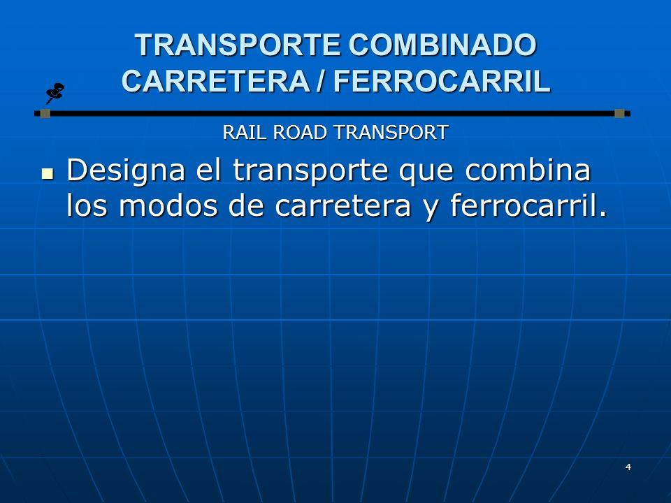 TRANSPORTE COMBINADO CARRETERA / FERROCARRIL