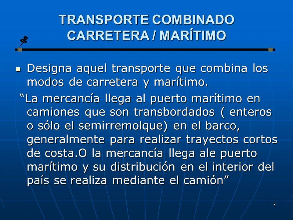 TRANSPORTE COMBINADO CARRETERA / MARÍTIMO