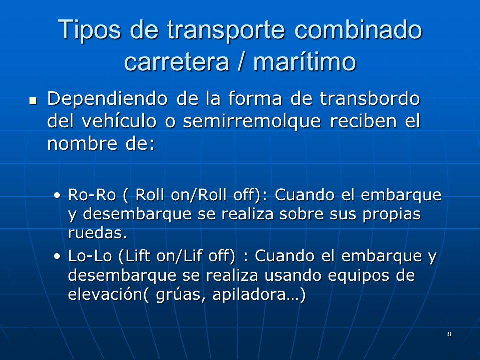 Tipos de transporte combinado carretera / marítimo
