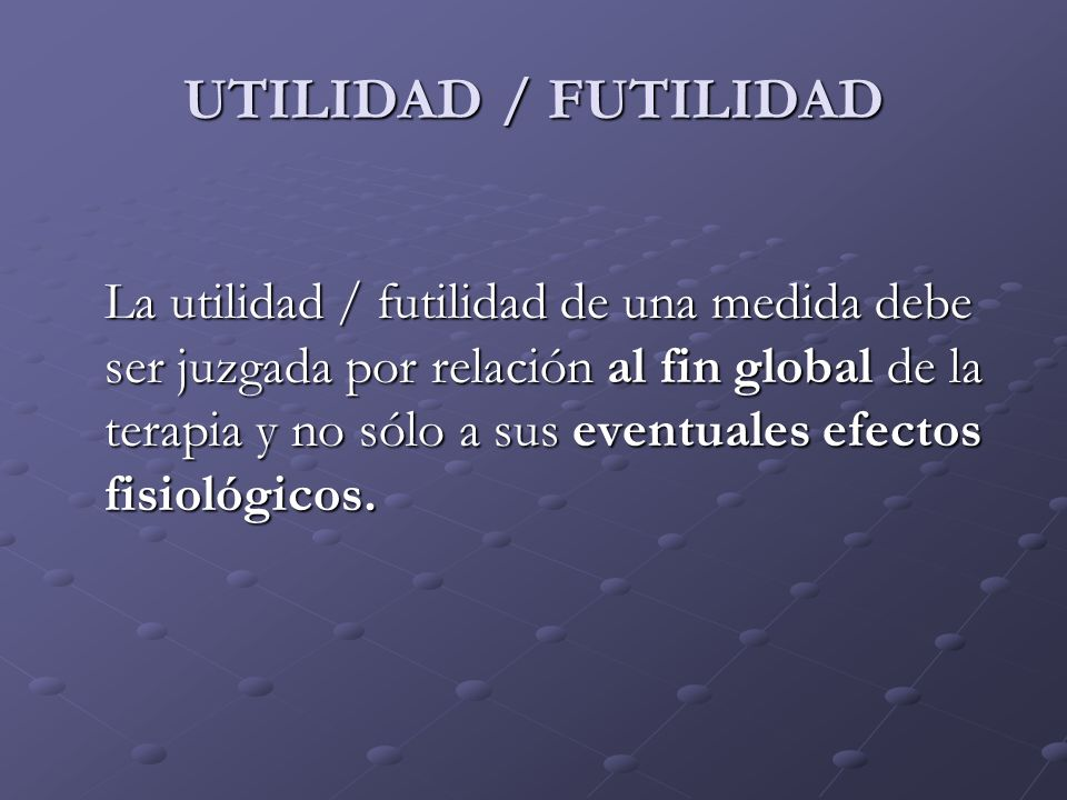 UTILIDAD / FUTILIDAD