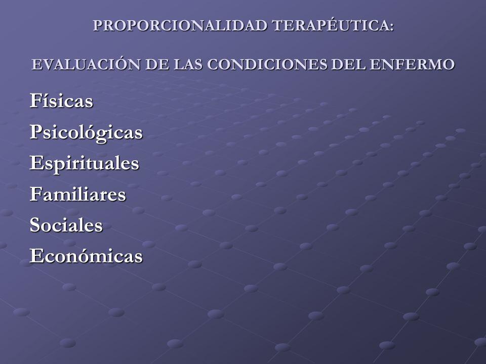 Físicas Psicológicas Espirituales Familiares Sociales Económicas