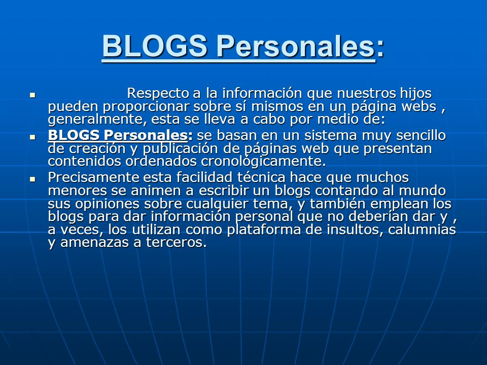 BLOGS Personales:
