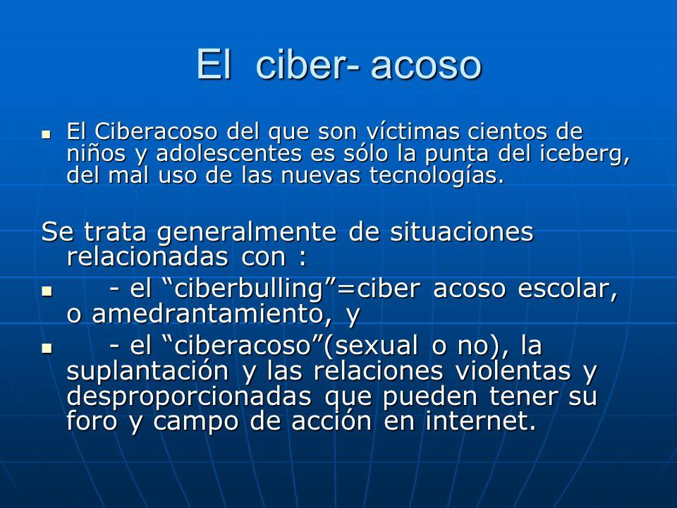 El ciber- acoso