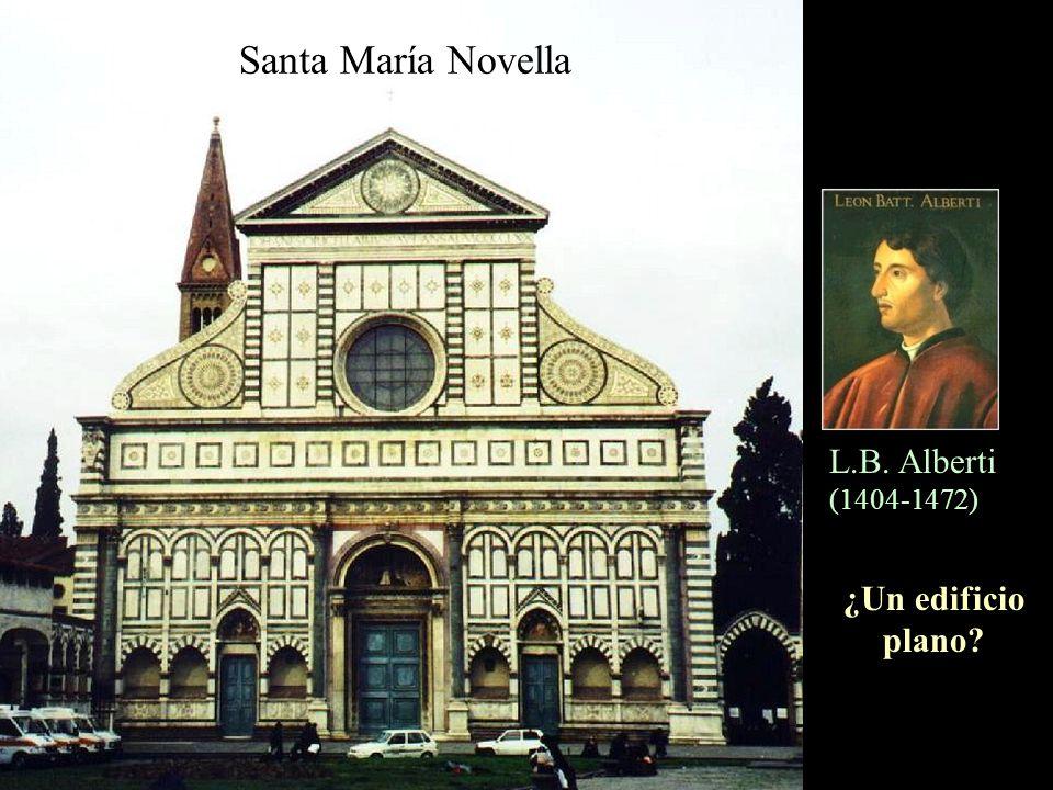 Santa María Novella L.B. Alberti (1404-1472) ¿Un edificio plano