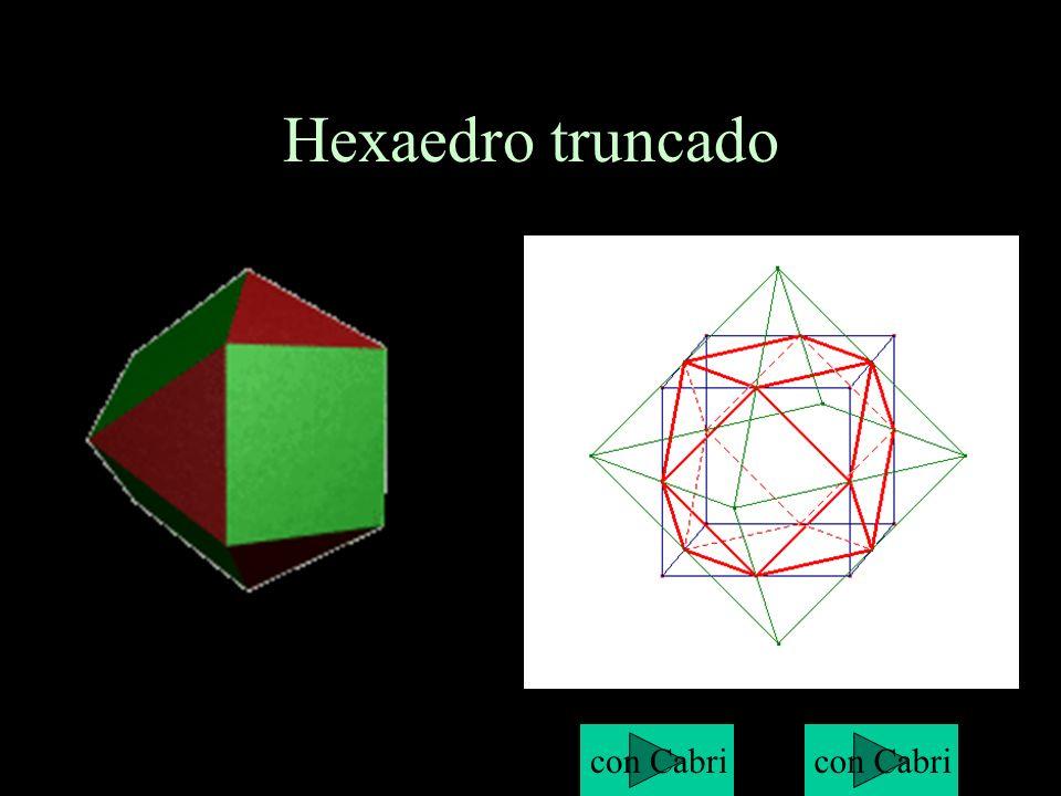Hexaedro truncado con Cabri con Cabri