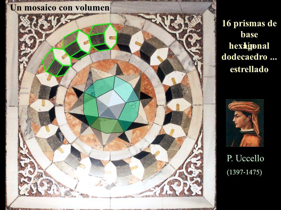 16 prismas de base hexagonal