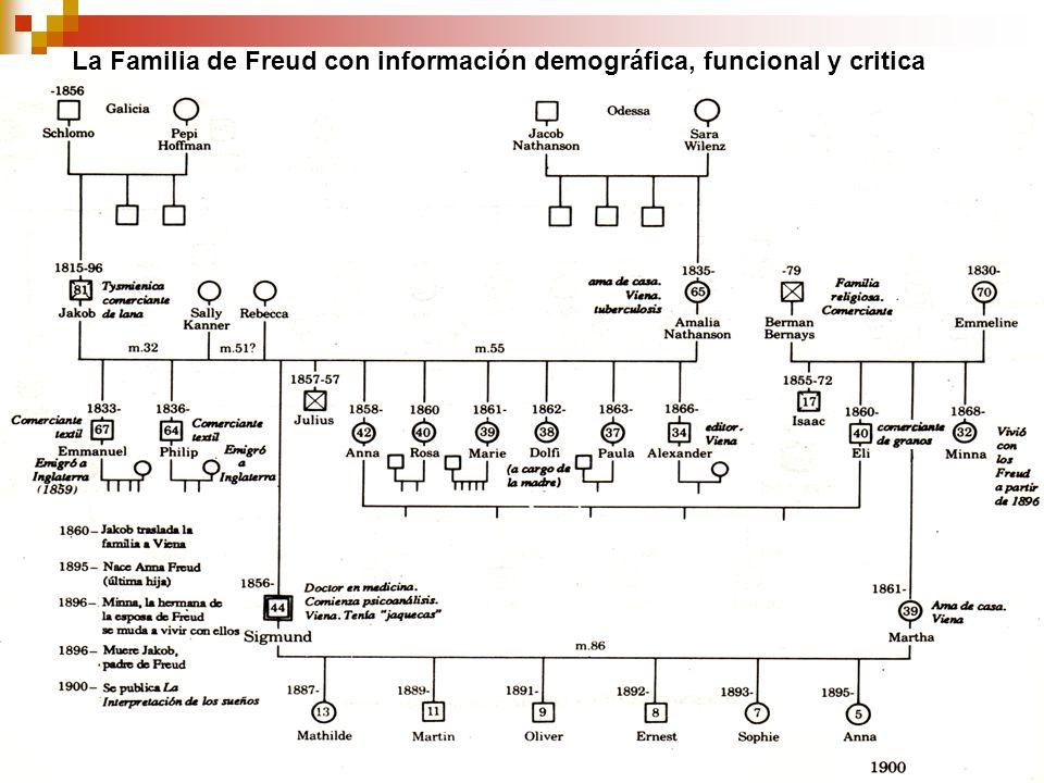 La Familia de Freud con información demográfica, funcional y critica