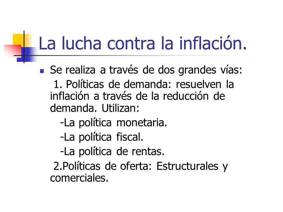 La lucha contra la inflación.