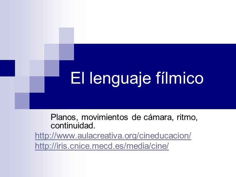 El lenguaje fílmico Planos, movimientos de cámara, ritmo, continuidad.