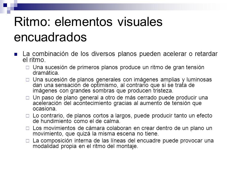 Ritmo: elementos visuales encuadrados