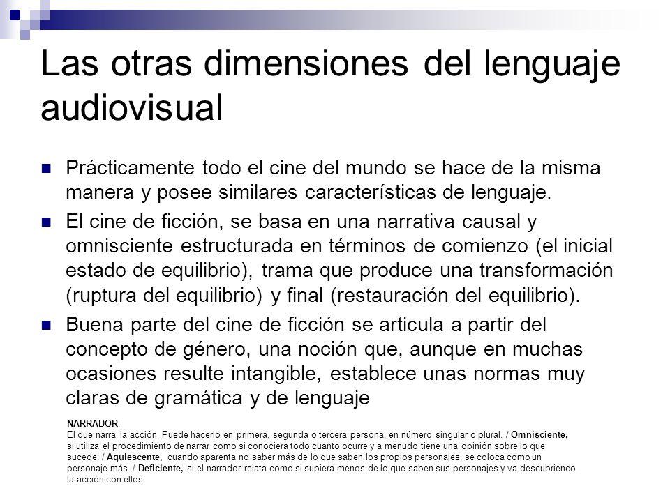 Las otras dimensiones del lenguaje audiovisual