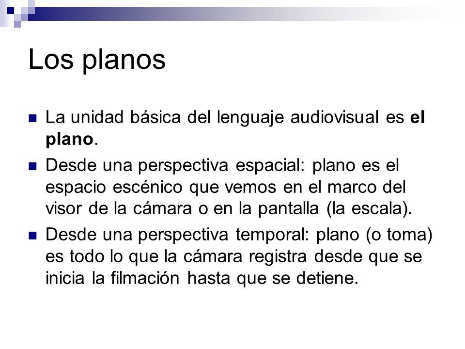 Los planos La unidad básica del lenguaje audiovisual es el plano.