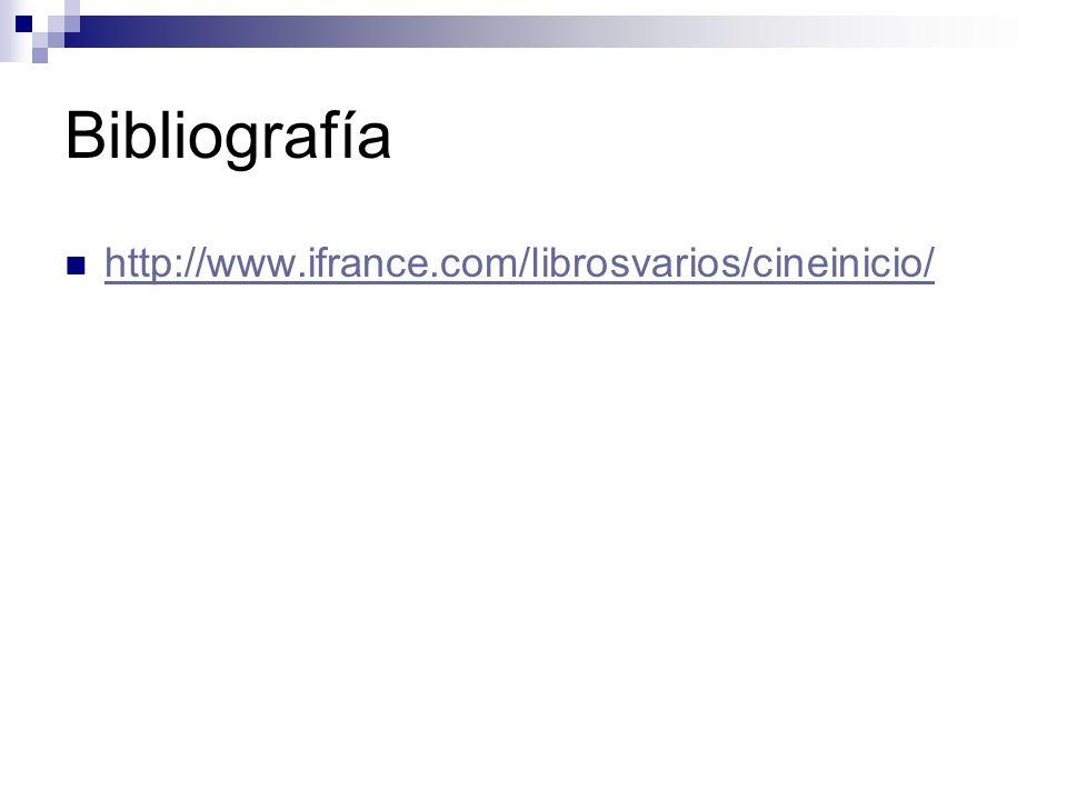 Bibliografía http://www.ifrance.com/librosvarios/cineinicio/