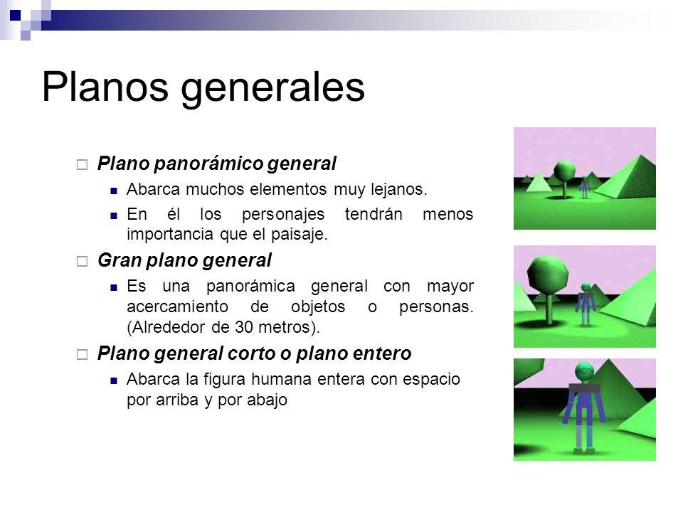 Planos generales Plano panorámico general Gran plano general