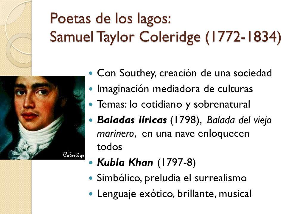 Poetas de los lagos: Samuel Taylor Coleridge (1772-1834)