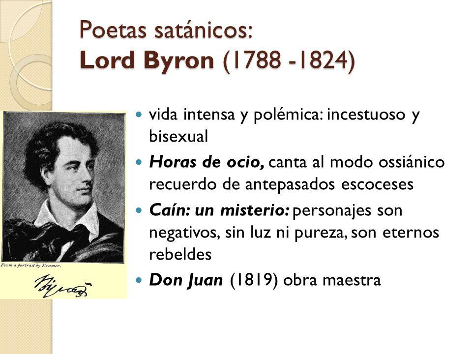 Poetas satánicos: Lord Byron (1788 -1824)