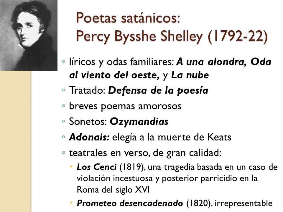 Poetas satánicos: Percy Bysshe Shelley (1792-22)