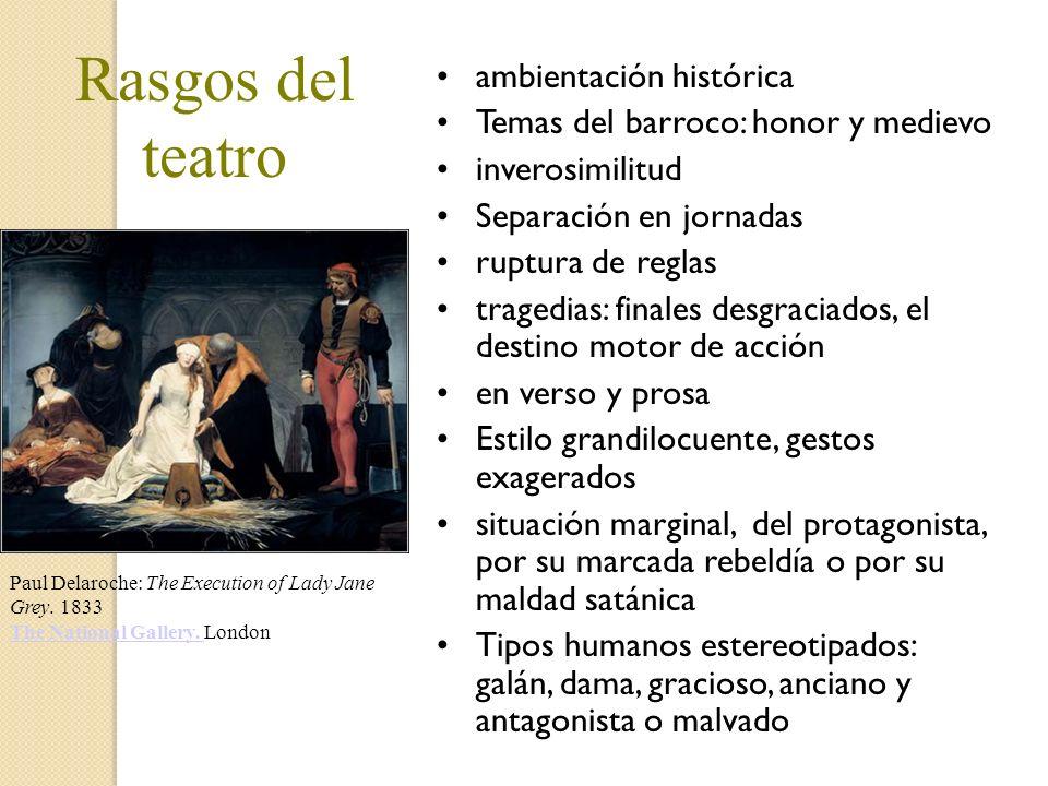Rasgos del teatro ambientación histórica