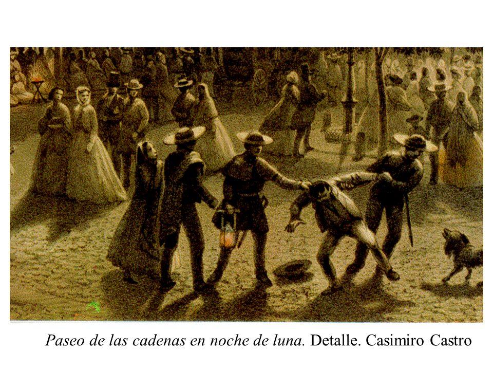 Paseo de las cadenas en noche de luna. Detalle. Casimiro Castro