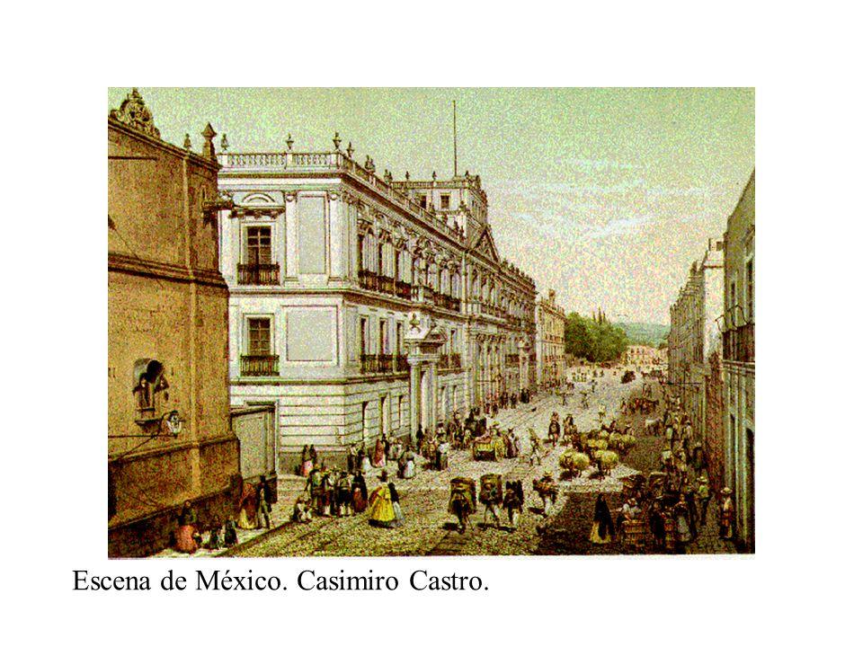Escena de México. Casimiro Castro.
