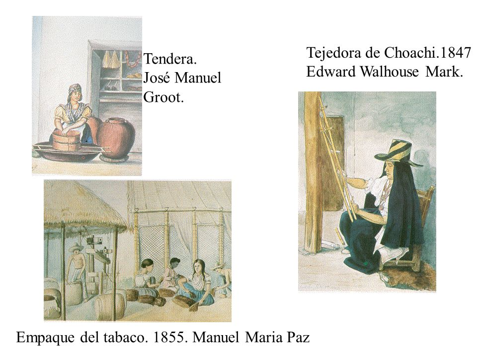 Tejedora de Choachi.1847 Edward Walhouse Mark. Tendera.
