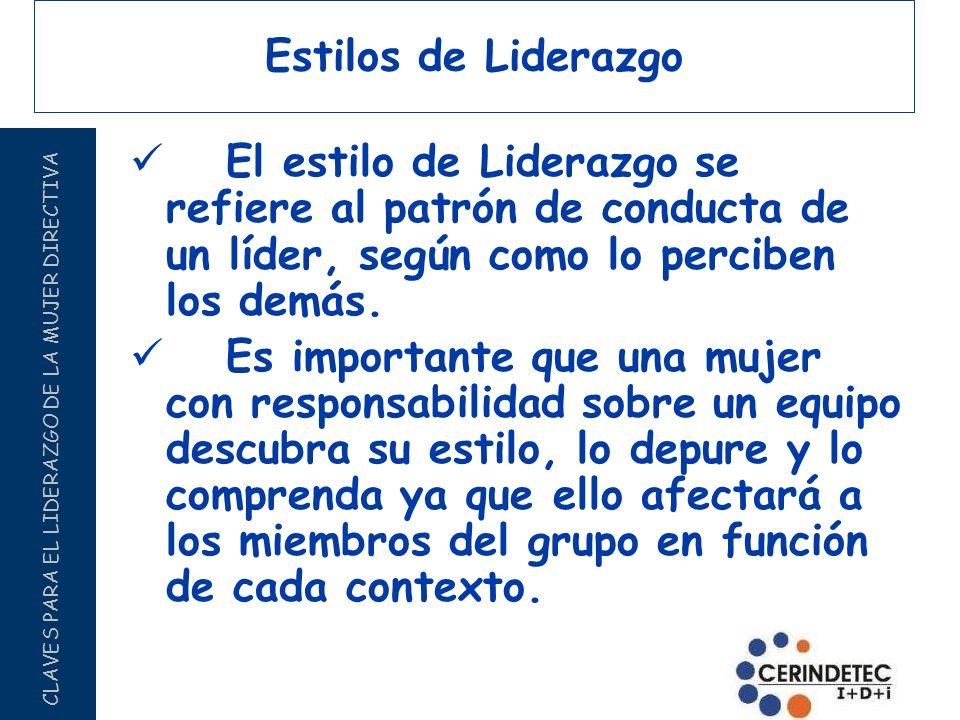 Estilos de Liderazgo El estilo de Liderazgo se refiere al patrón de conducta de un líder, según como lo perciben los demás.