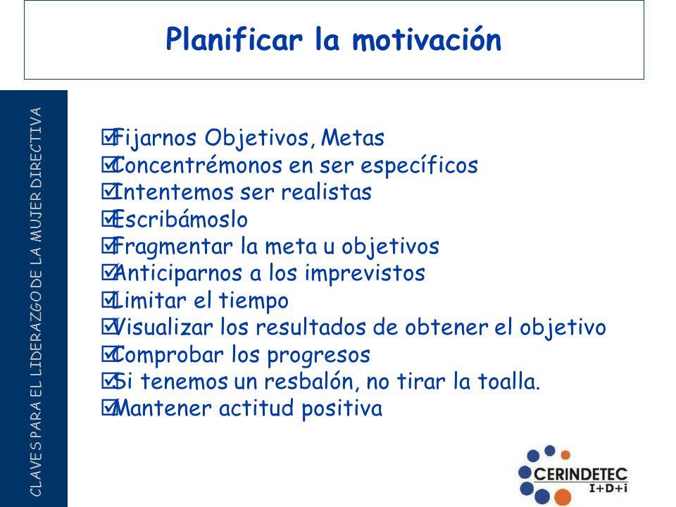 Planificar la motivación