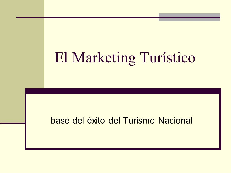 El Marketing Turístico