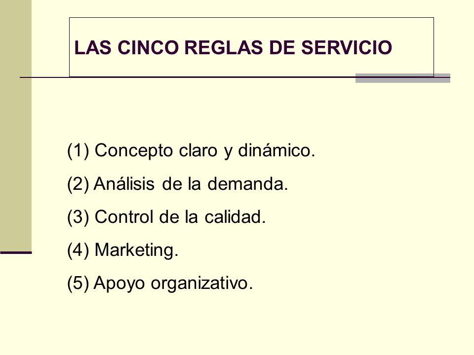 LAS CINCO REGLAS DE SERVICIO