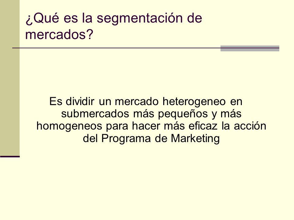 ¿Qué es la segmentación de mercados