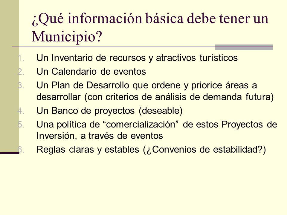 ¿Qué información básica debe tener un Municipio