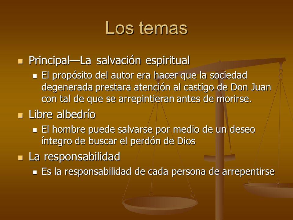 Los temas Principal—La salvación espiritual Libre albedrío