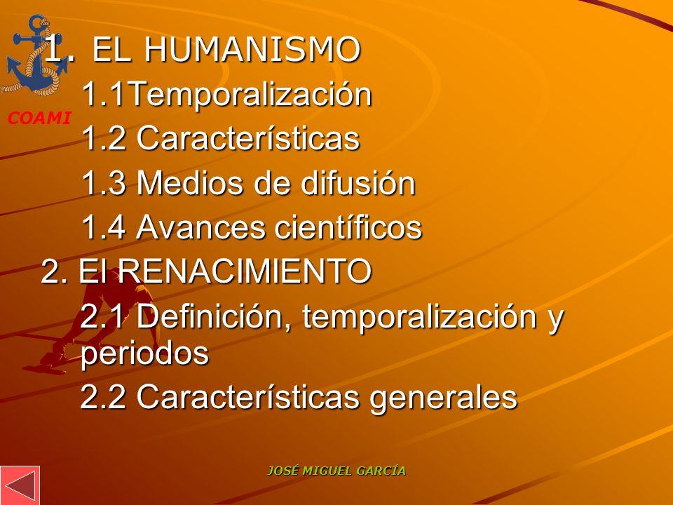 1. EL HUMANISMO 1.1Temporalización 1.2 Características