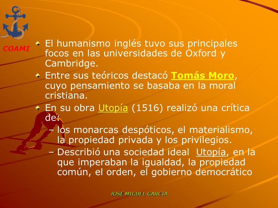 En su obra Utopía (1516) realizó una crítica de: