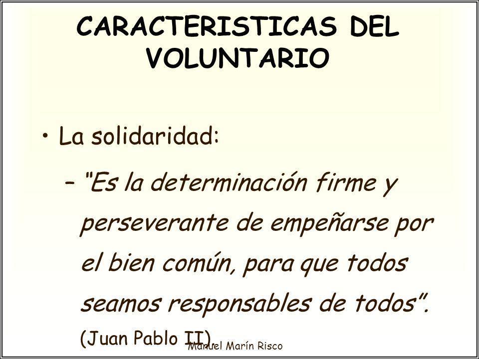 CARACTERISTICAS DEL VOLUNTARIO