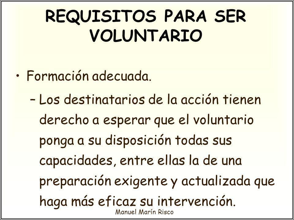 REQUISITOS PARA SER VOLUNTARIO