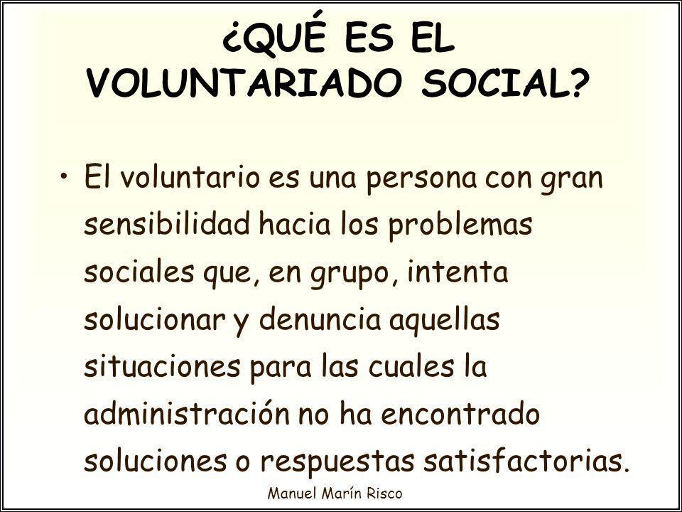 ¿QUÉ ES EL VOLUNTARIADO SOCIAL